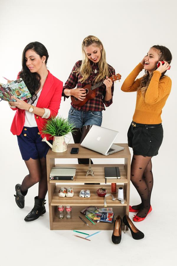 Book fotográfico de três amigas realizado por Bliss Fotografia